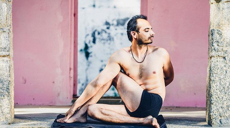 lalit kumar (yoga teacher) in matseyendrasana