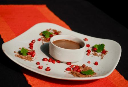 plate of vegan chocolate ice-cream