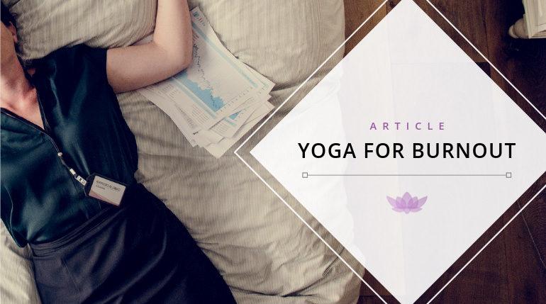 yoga for burnout