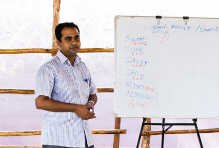 Dr Rohit Teaching an Ayurveda Lecture