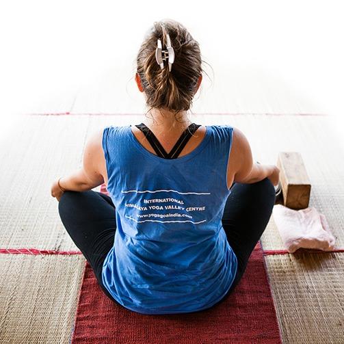 Yoga Student meditating