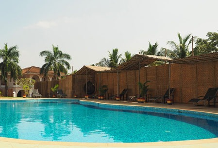 Pool at yoga centre in Goa