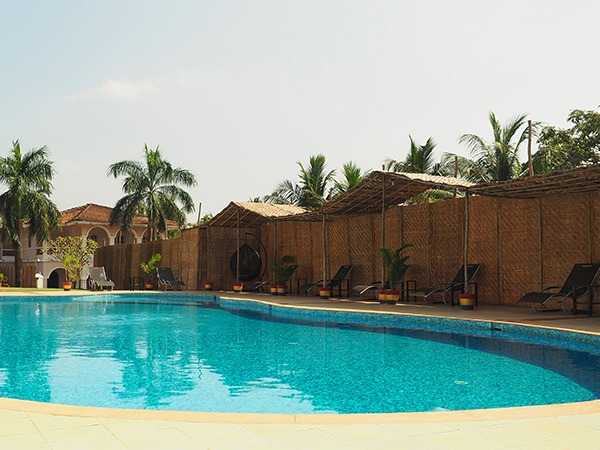 Pool at yoga centre in Goa