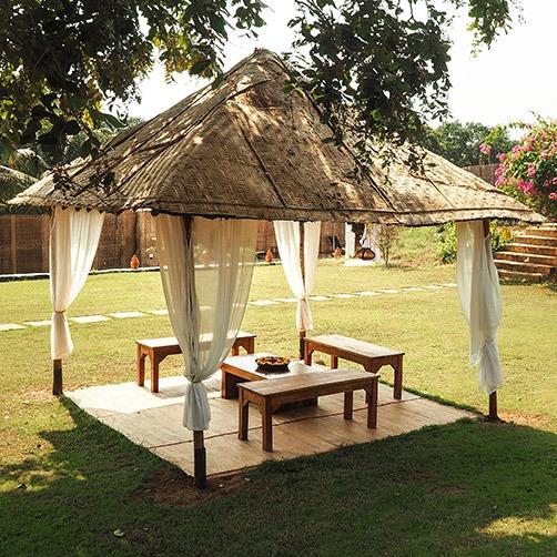 Small hut in yoga gardens goa