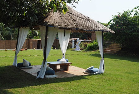Quiet gardens in yoga centre